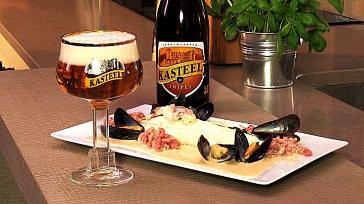 """Het lekkerste recept voor """"Zeetong met ostendaisesaus, spinazie & Kasteelbier Kasteel Tripel"""" vind je bij njam! Ontdek nu meer dan duizenden smakelijke njam!-recepten voor alledaags kookplezier!"""