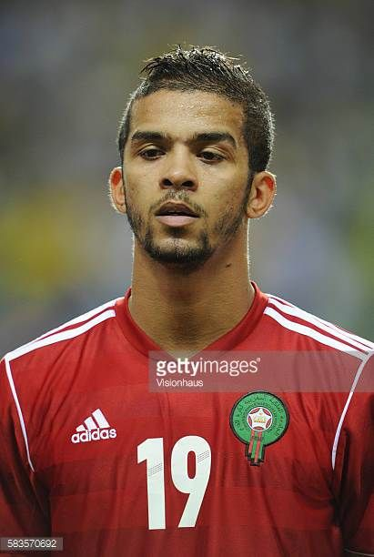 Gonzalez Mehdi Francois Carcela of Morocco during the 2012 African Cup of Nations Group C match between Gabon and Morocco at the Stade de l'Amitie in...