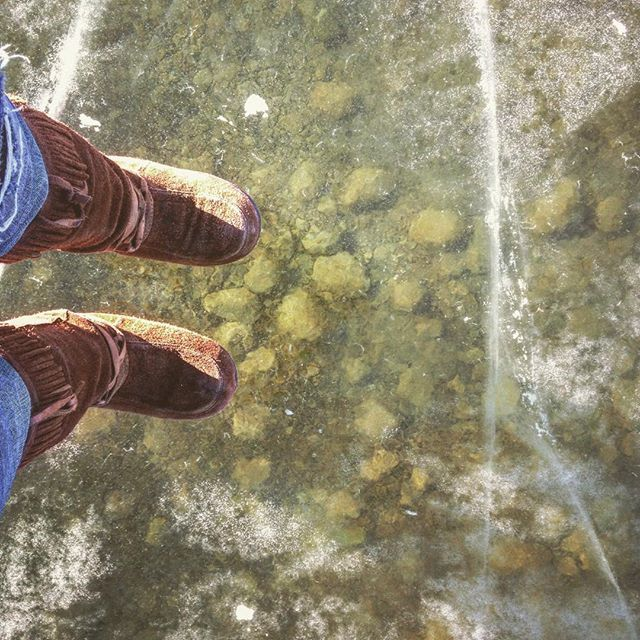 Standing on ice over about ten feet of water. #Clearlake #clearice #clear #glass #ridingmountain #rmnp #ice #manitoba #canada