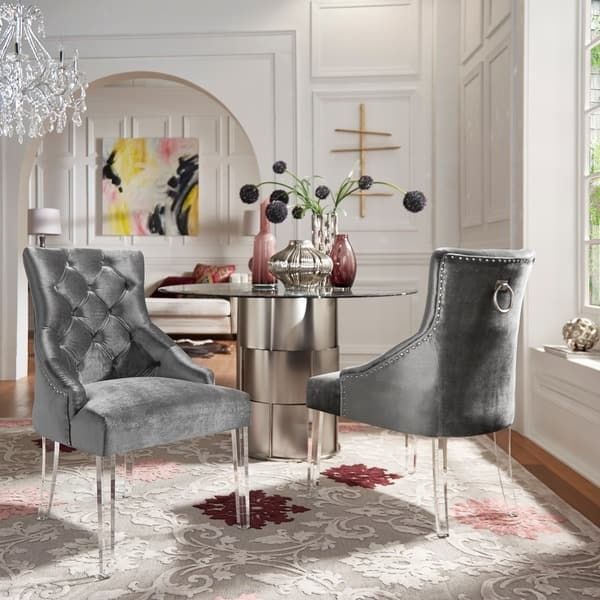 Overstock Com Online Shopping Bedding Furniture Electronics Jewelry Clothing More Tufted Dining Chairs Dining Chairs Living Room Chairs