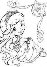 Раскраска Лимонка в нарядном платье | Принцесса раскраски ...