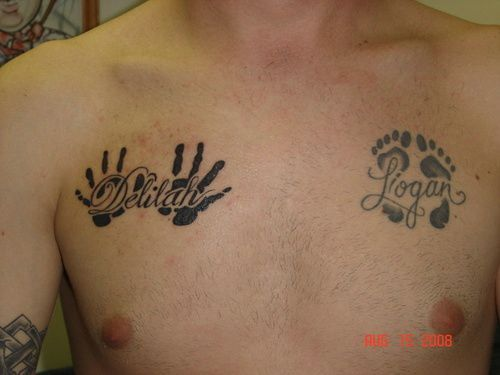 26 Name Tattoo Designs On Chest