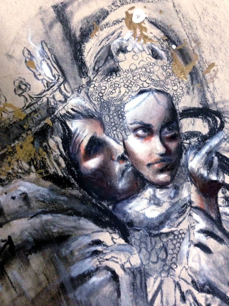 """O, full of scorpions is my mind, dear wife...""  ""It will have blood; they say, blood will have blood""    •••••••(Sketch/Draft #1) •••Macbeth scene depiction. Every sketch I create based on Shakespeare's plays will evolve into oil paintings. (Charcoal + Pencil +Acrylic + Paper)"