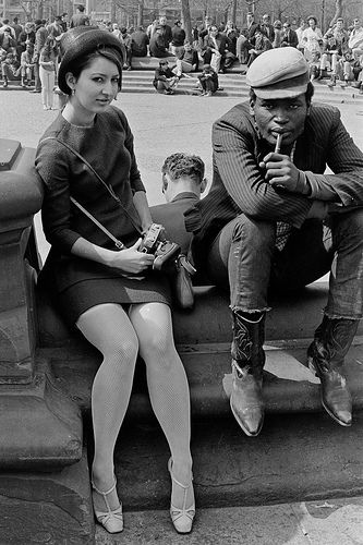 Washington Square Park, New York City, New York, United States, 1960, photograph by Winston Vargas.
