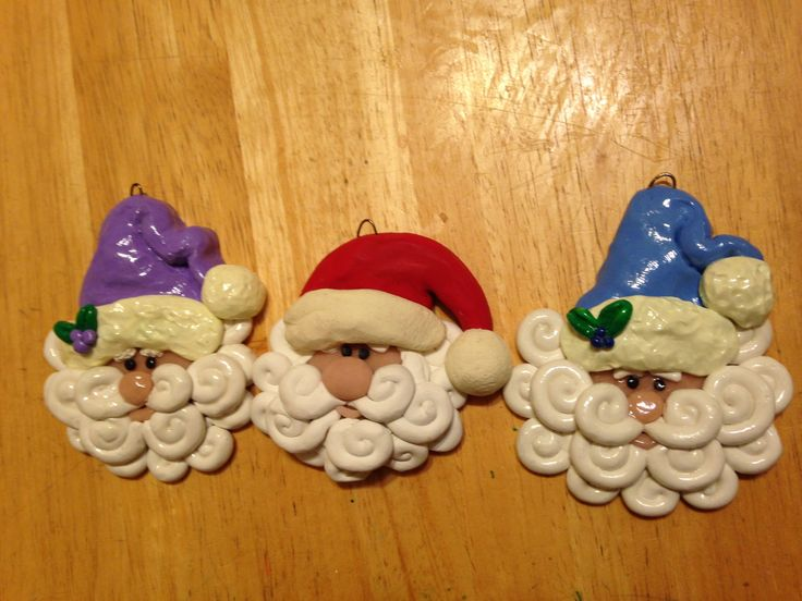 Clay Santas!  Polymer Clay Tutorial DIY Christmas Ornaments
