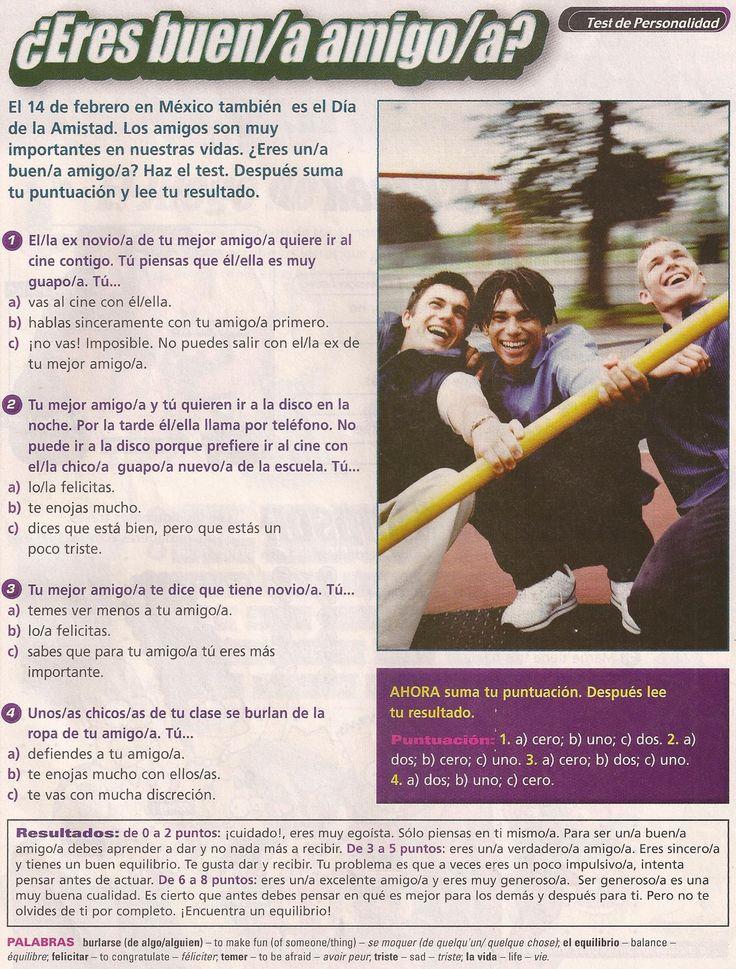 El Día de la amistad es el 14 de febrero en México. Test de personalidad. ¿Eres un buen/a amig@