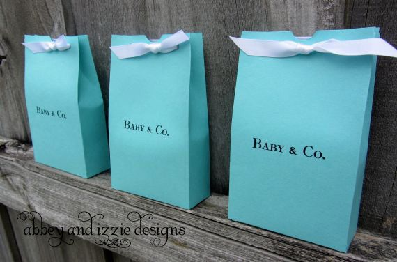 Tiffany Blue gift bags by abbeyandizziedesigns on Etsy