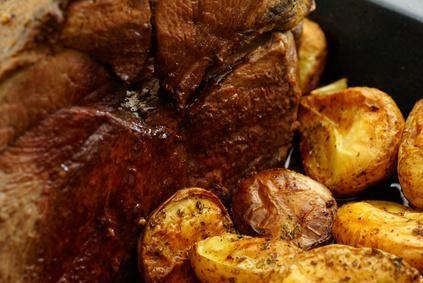 Venison roast with roasted potatos - close -up image by Elzbieta Sekowska from Fotolia.com