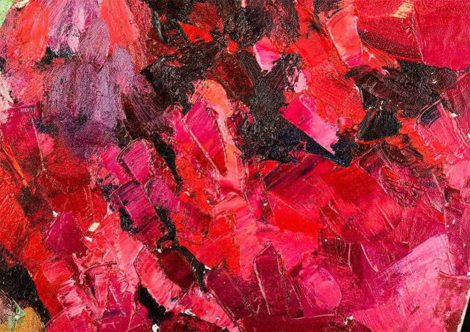 Red & Pink Abstract Art