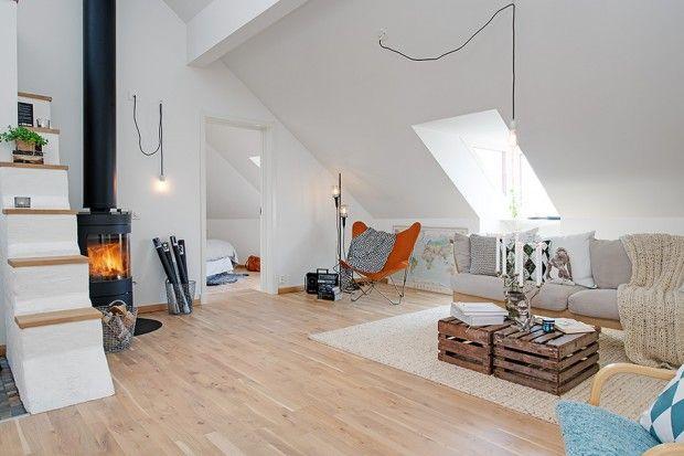 Ce très beau loft découvert sur Alvhem, abrite une superficie totale de 90 m2 (71 m2 habitable et 19 m2 de terrasse) et affiche créativité et design dans t