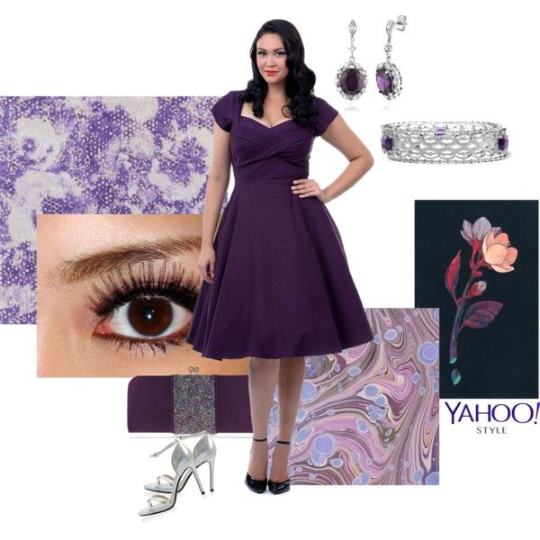 Purple fab by maria-kuroshchepova on Polyvore featuring Stop Staring!, White House Black Market, Nina, Lab, BERRICLE, contestentry, yahoostyle and plus size dresses