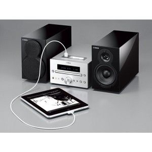 YAMAHA MCR-332 - Sound, design, the latest features...it's all here. The MCR-332 is an executive style mini-system featuring iPhone, iPod and iPad compatibility among other advanced features bundled with a pair of elegant piano black finish speakers.