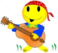 Image result for emoticons musica rock