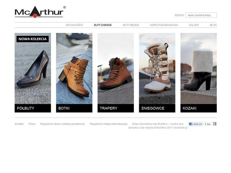 McArthur - shoes categories e-commerce webdesign « Krakweb.pl »