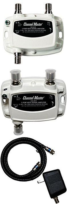 Digital Tv Antenna Booster. Channel Master CM-3410 1-Port Ultra Mini Distribution Amplifier for Cable and Antenna Signals.  #digital #tv #antenna #booster #digitaltv #tvantenna #antennabooster