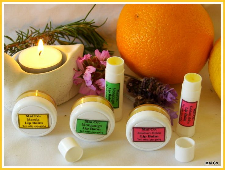 Mai Co Lip Balms - in tub or tubes!  Made from Oils of Kalahari Melon (rejuvenating or rehydrating), Marula (maintenance and repair) and Mongongo (natural sunblock)