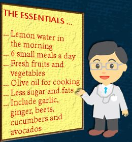 This is supposed to be a diet for gallbladder problems, but it's just healthy habits we should all try to keep:)