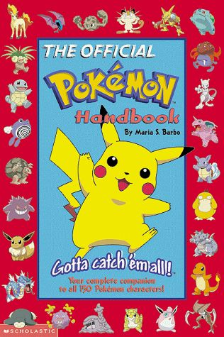 The Official Pokemon Handbook oh yeah i had it. With all the different colour versions of the gameboy games too!