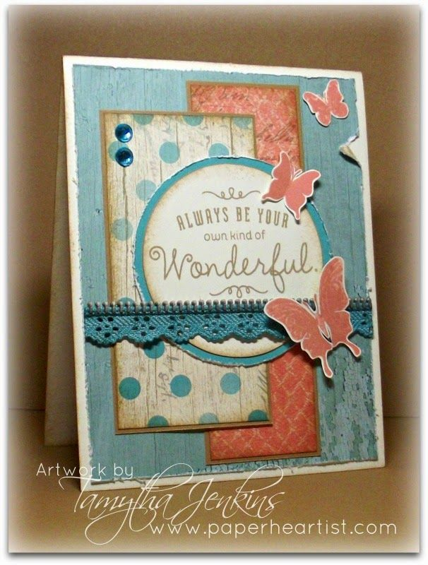 "Seaside Paper and ""Your Own Kind of Wonderful"" stamp set -"