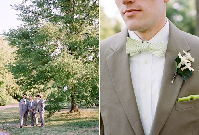 green and white bow tie - Jamie Clayton Photography