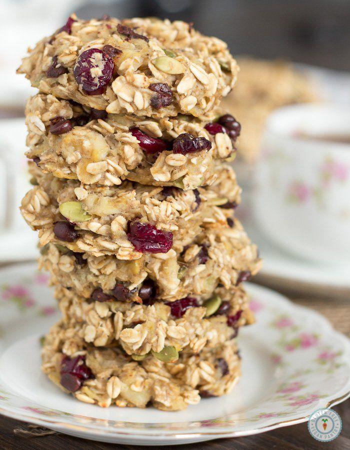 Banana Breakfast Cookies - Vegan + Gluten-free