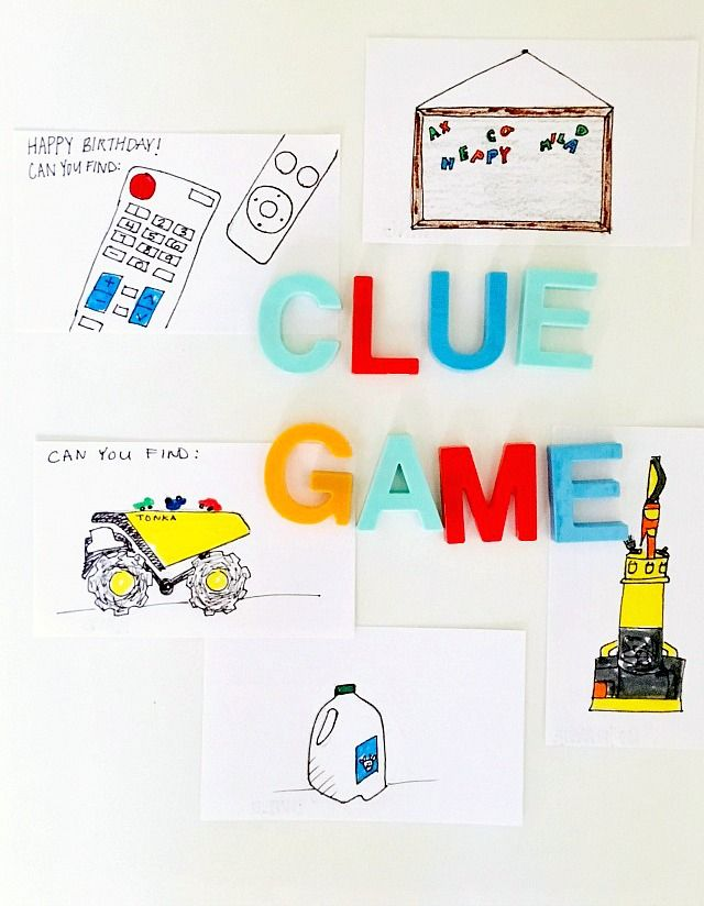 How to make a clue game (scavenger hunt) for a toddler! Such a fun way to make simple gifts super exciting!