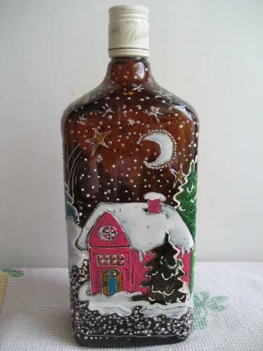 hand painted bottle