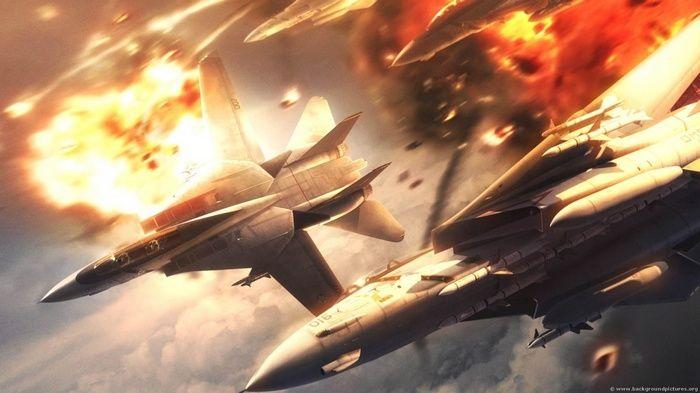 Jet Fighter Explosion Military Aircraft Artwork Aircraft Digital Art Wallpaper Fighter Jets Lightning Fighter Aircraft Images Desktop wallpaper 4k fighter jet