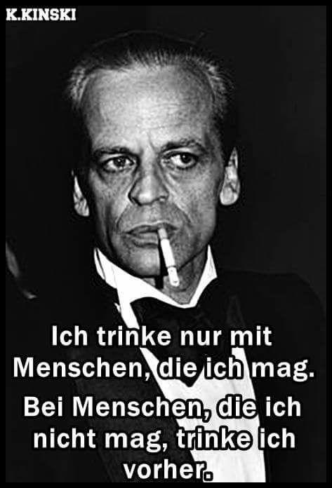 Klaus Kinski über's trinken