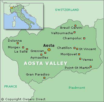 Aosta e` una citta` in Valle d'Aosta, vicino a Courmayeur. Aosta e` una piccola citta` nel nord-est Italia. Courmayeur per la citta` di Aosta e` a breve distanza dalla macchina. Aosta e` la regione che produrre vino principale della Valle d'Aosta.