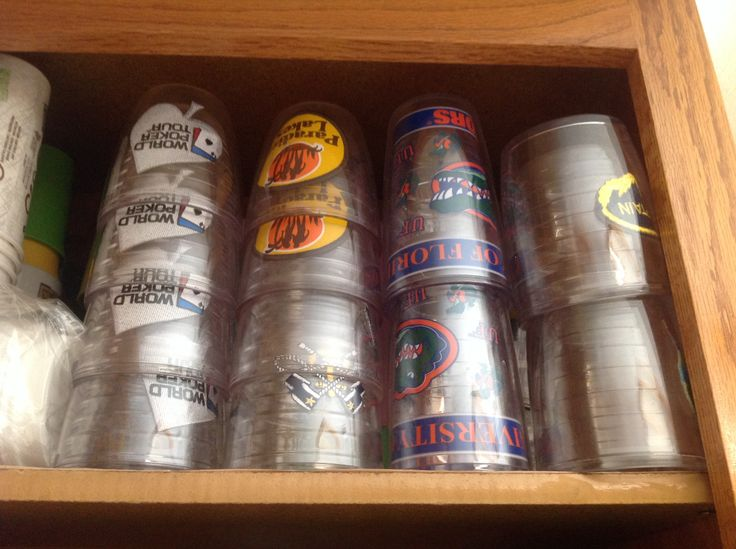 Vintage and new Tervis Tumblers...World Series of Poker...Yachting...Paradise Lakes (never been) Univeristy of Florida, Captain and UCLA...love them all!