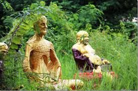 statues in countryside