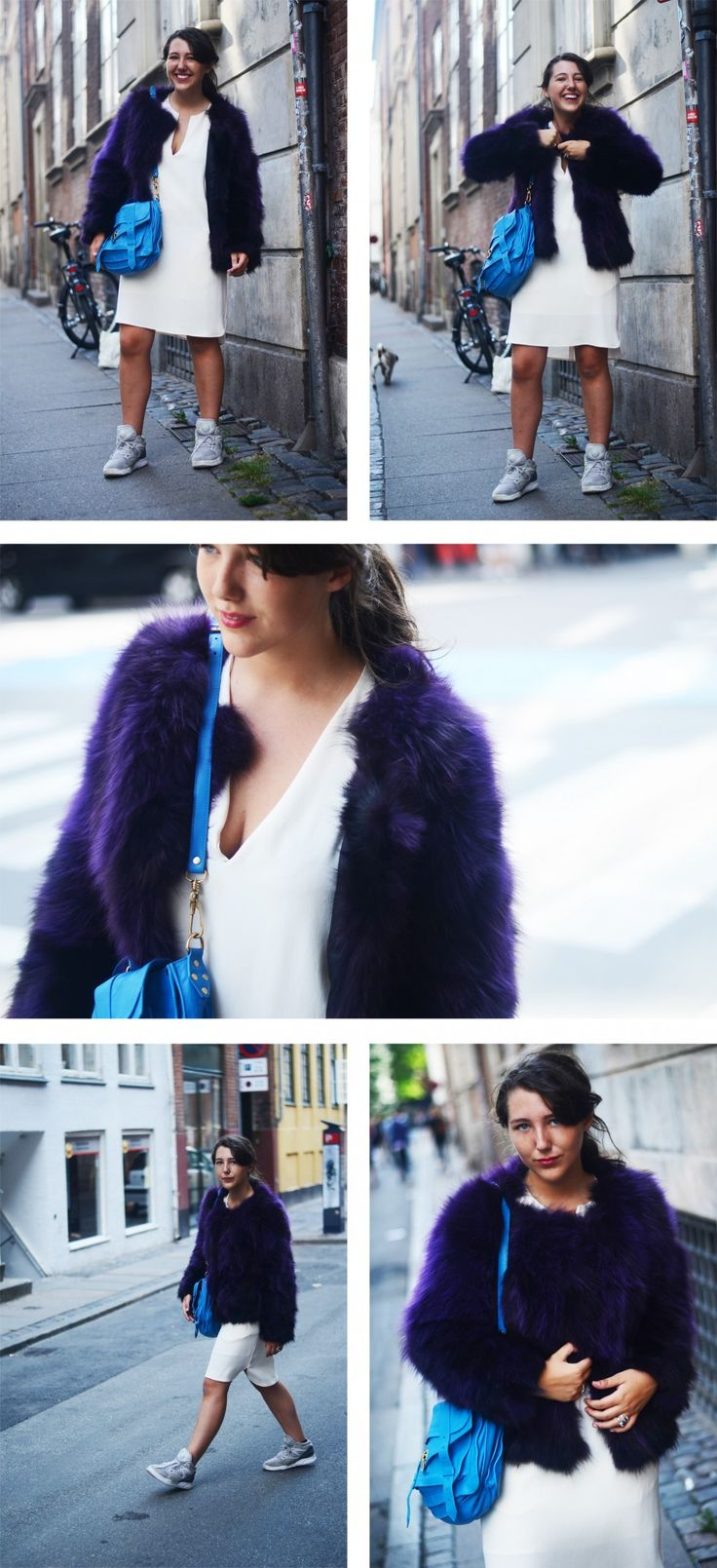 Fur: Saks Potts / Dress: Filippa K / Shoes: Reebok Pumps / Silver Jewellery: Clan of DK / Bag: Proenza Schouler