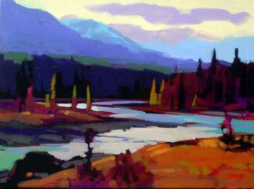 Last Light (Bow River Valley), by Mike Svob