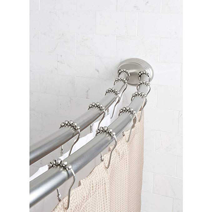 Shower Curtain Rods, How To Install A Curved Tension Shower Curtain Rod
