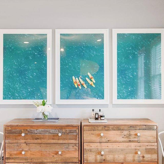 Bondi Surf Lifeguards Triptych by Gray Malin