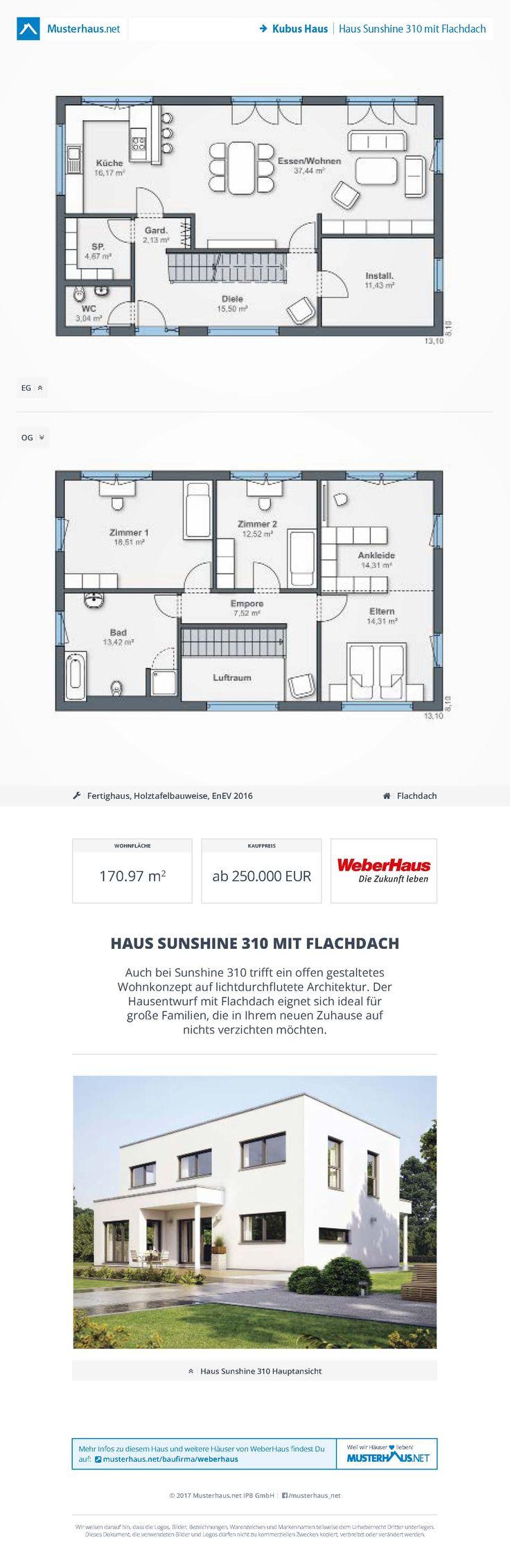 Haus Sunshine 310 Mit Flachdach U2022 Kubushaus Von WeberHaus U2022 Jetzt Bei  #Musterhaus.net