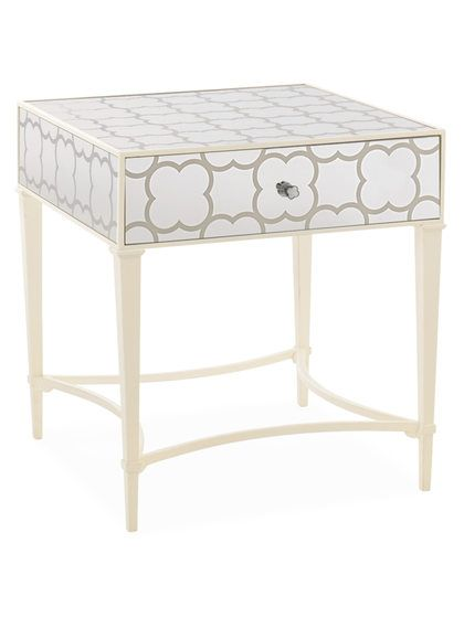 Mirrored Accent Table with Drawer by Caracole at Gilt