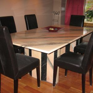 green marble dining room table