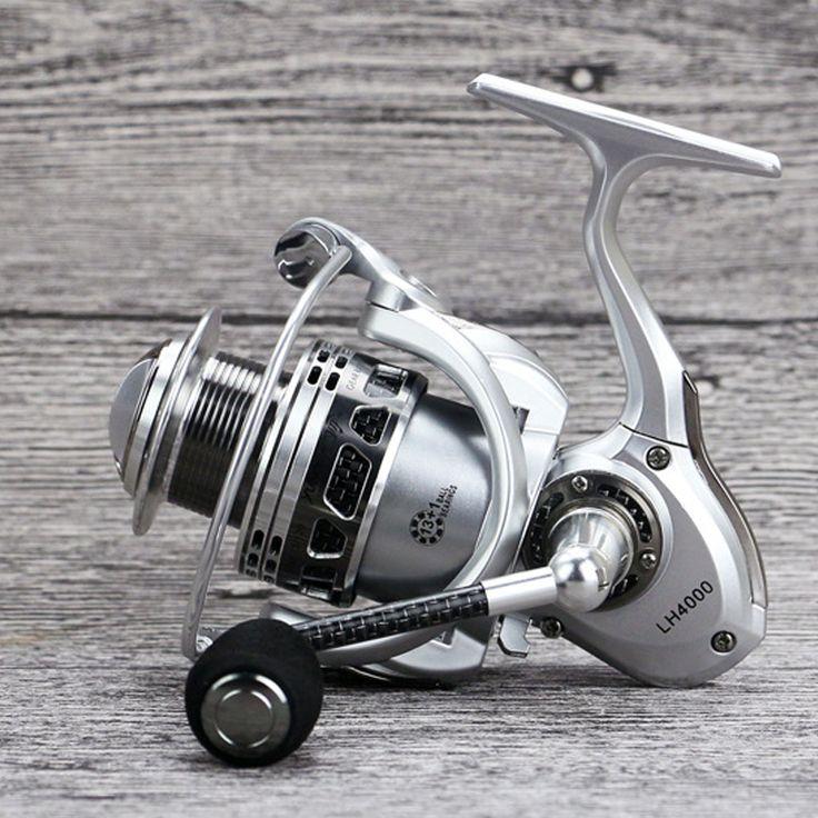 YUMOSHI Full Metal Fishing Spinning Reel Pesca Carretilha Reels Carretes De Pescar Molinete Moulinet Casting Peche LH 2000-5000 #Affiliate