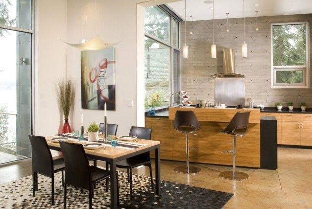 Kitchen with Dining Room Design
