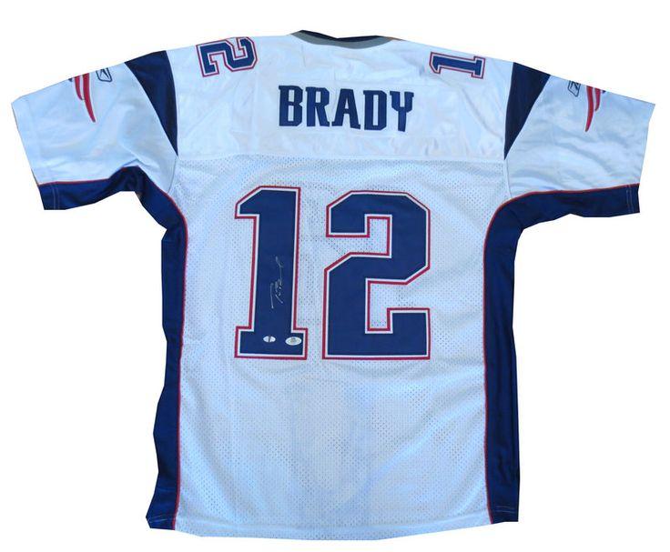 Tom Brady Signed New England Patriots Football Jersey Mounted Memories Tom Brady signed New England signed autographed