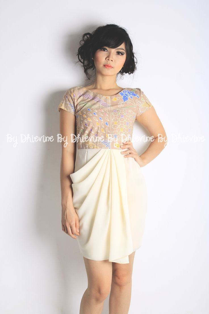 Batik Dress | Dress Kebaya | Drapery Dress | Menur Brown Dress | DhieVine | Redefine You