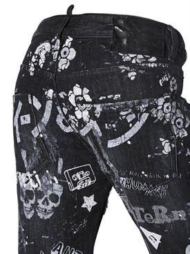 dsquared2 - женщины - джинсы - джинсы из деним с принтом