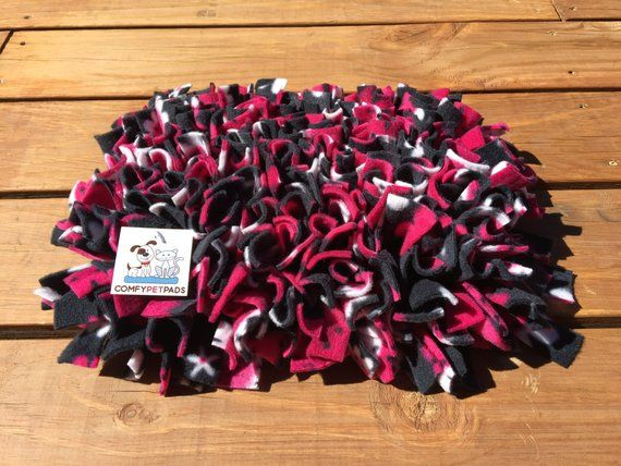 Black And Raspberry Snuffle Mat Rooting Rug Pig Enrichment Toy