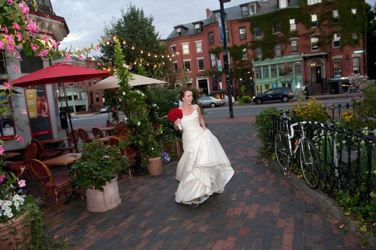 Bride at the Beehive, Boston, Photography by Linda