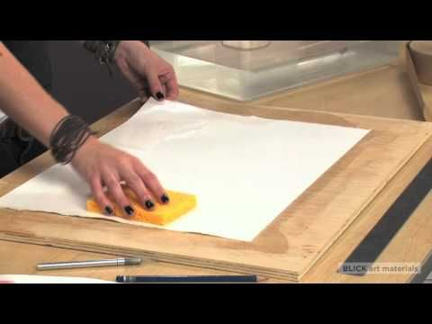 If you've ever painted on paper, you've likely experienced it warping or buckling during the drying process.  Hilary will show you how to eliminate this problem by stretching your paper before you paint. It is much easier than you think. All the materials in this video can be purchases at Blick Art Materials: www.dickblick.com/.