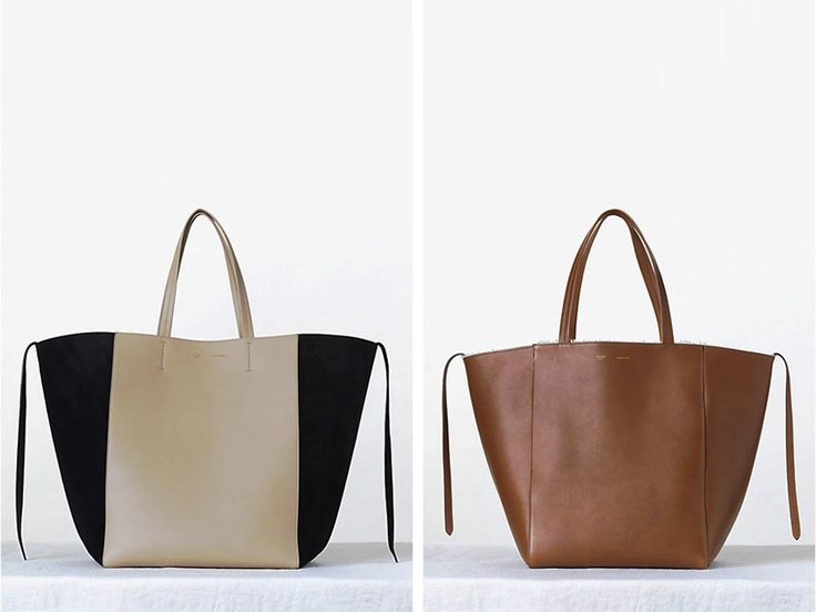 Celine Beige Bicolor Phantom Cabas Tote bag Fall 2013 | Celine ...