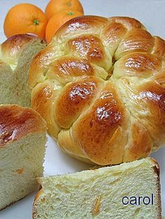 Carol 自在生活  : 鮮橙蜂蜜麵包