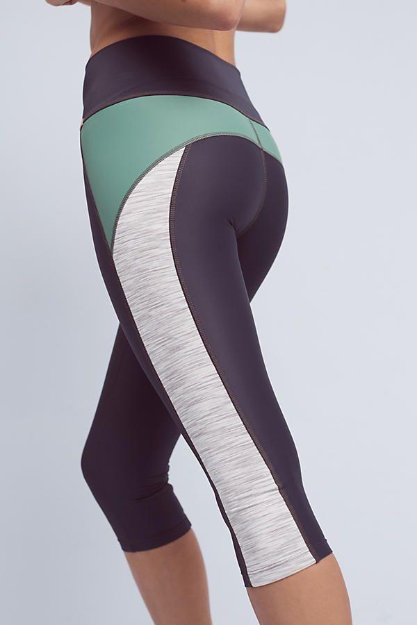 Slide View: 2: Mint X-Curvate Capri Leggings